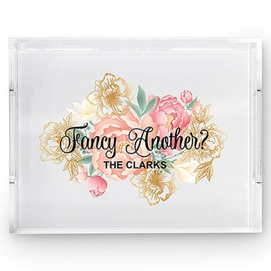 Rectangular Acrylic Tray  Fancy Another Modern Floral Print
