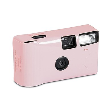 Image of Disposable Camera with Flash - Blush Pink