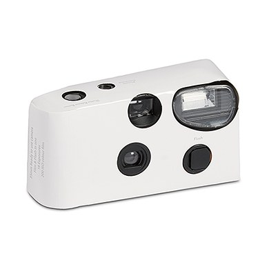 Image of Disposable Camera with Flash - White