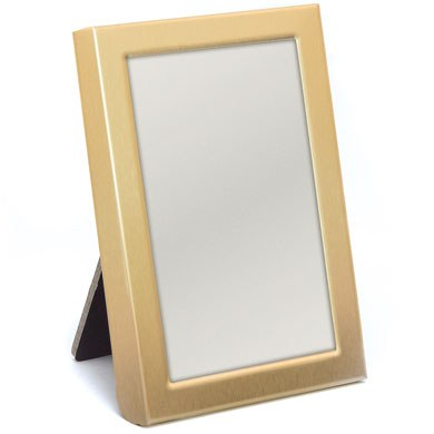 Mini Photo frame Favour in Gold or Silver Easel Back  Matte Gold