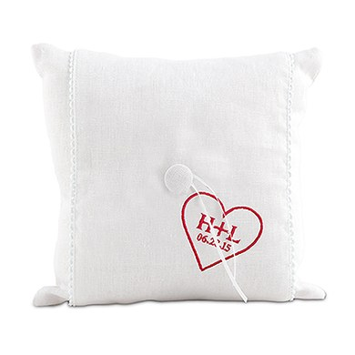 Simply Sweet Personalised Heart Ring Cushion
