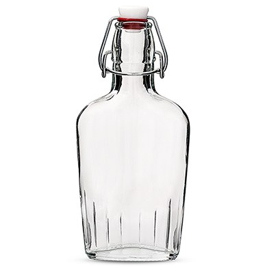 Clear Glass Hip Flask