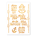 Gold Bachelorette Party Temporary Tattoos - Nautical