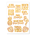 Gold Bachelorette Party Temporary Tattoos - Tropical