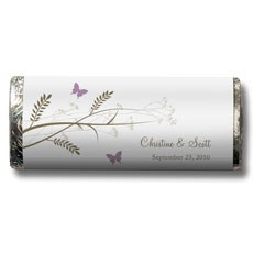 Romantic Butterfly Nut Free Gourmet Milk Chocolate Bar