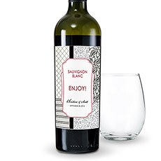 Eclectic Patterns Wine Label