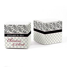 Eclectic Pattern Cube Favor Box Wrap