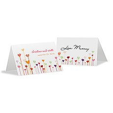 Hearts Place Card With Fold