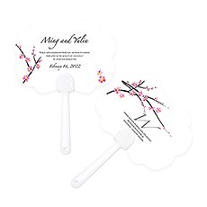 Cherry Blossom Personalized Hand Fan