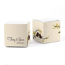 Love Bird Cube Favor Box Wrap