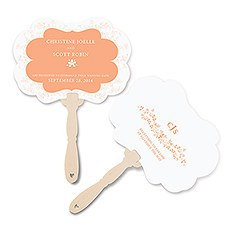 Forget Me Not Personalized Hand Fan