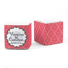 Moroccan Cube Favor Box Wrap
