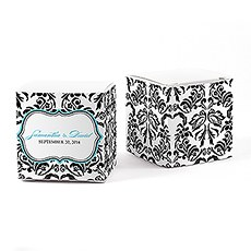 Love Bird Damask Cube Favor Box Wrap