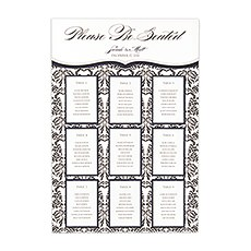 Personalized Seating Chart Kit with Love Bird Damask Design