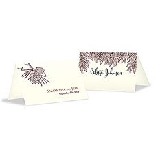 Evergreen Place Card With Fold