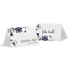 Floral Orchestra Place Card With Fold