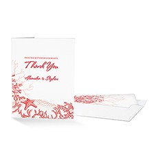 Reef Coral Thank You Card