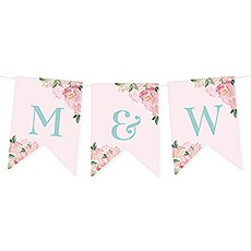 Custom Decorative Pennant Flag Party Bunting Banner - Garden Party