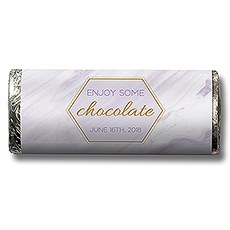 Geo Marble Nut Free Gourmet Milk Chocolate Bar