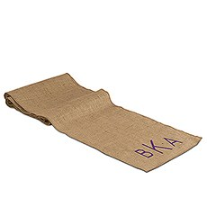 Geo Marble Personalized Burlap Table Runner