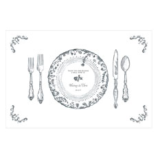Antique Chic Personalized Paper Place Mat - Table Setting