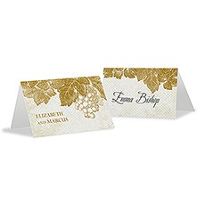 A Wine Romance Place Card With Fold