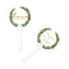 Love Wreath Personalized Hand Fan
