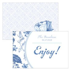 Vintage Romance Assorted Flat Place Cards - Hand Drawn Florals