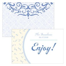 Vintage Romance Assorted Flat Place Cards - Bluebells