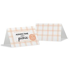 Always Time For a Picnic Tent Card