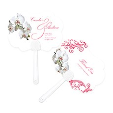 Classic Orchid Personalized Hand Fan