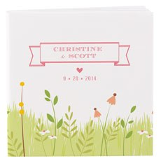 Notepad Favor with Personalized Homespun Charm Cover