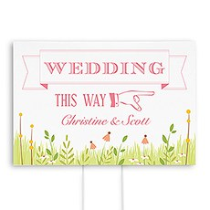 Homespun Charm Wedding Directional Sign
