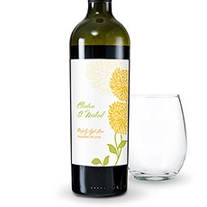 Zinnia Bloom Wine Label