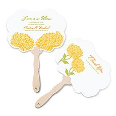 Zinnia Bloom Personalized Hand Fan