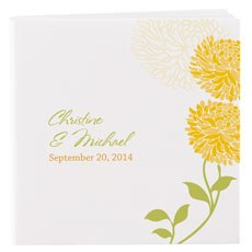 Personalized Zinnia Bloom Notepad Wedding Favor