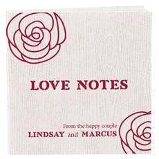 Notepad Favor with Personalized Rose Cover