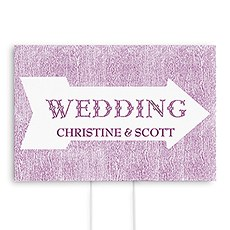 Pointing Arrow Wedding Directional Sign