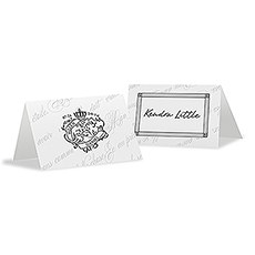 Parisian Love Letter Place Card With Fold