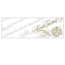 Parisian Love Letter Post Note Card with Fold