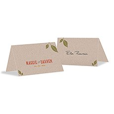 Vineyard Place Card With Fold