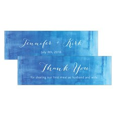 Aqueous Small Rectangular Favour Tag