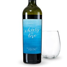 Aqueous Personalized Wine Label