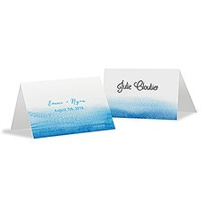 Aqueous Place Card With Fold