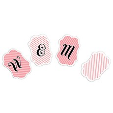Striped Decorative Shape Bunting Banner