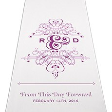 Fanciful Monogram Personalized Aisle Runner