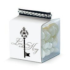 Key Monogram Favor Box Wrap
