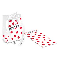Retro Vintage Dots Cello Favor Bag Inserts