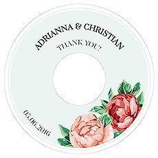 Tea Rose Diecut CD Label