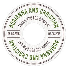 Woodland Diecut CD Label